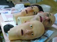 Fabrication des répliques des têtes des comédiens