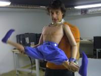 La marionnette du génie, manipulée par Sébastien Puech.