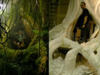 """Fabrication d'un arbre exotique et d'un décor de jungle pour le clip """" Chingalee"""" de Samy Adjali et Frank Messin."""