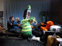 Manipulation sur le plateau , avec Laurent Huet et Frank Demory, Annaic Penon et Cyril Valade ( sous le canapé ! )