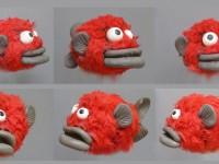 modelage de la marionnette de petit poisson