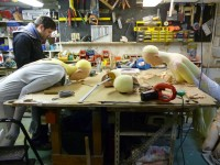 Construction en atelier . Avec Laurent Huet