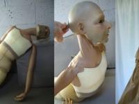 """Marionnette pour le spectacle """" macbeth variations """" . Résine et mousse articulée"""