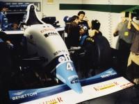 Formule 1 factice sur le tournage des guignols de l'info