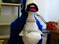 Construction de le marionnette de Gorg. Photo Moving Puppet.