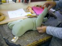 La construction de la matrice du corps de la marionnette .