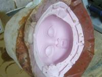 Moule en silicone de la tête de la marionnette de Kirikou