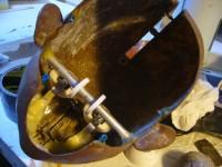 Le mécanisme de la marionnette, conçu par Frank Demory