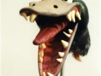Tête de canard avec bouche articulable