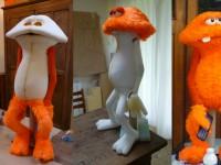 Etapes de recouvrement d'une marionnettes. Publicité pour le CSA. Rods productions. Creative designer : Corentin Lecourt