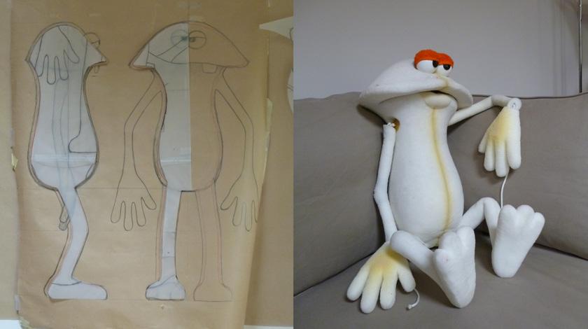 Marionnettes en mousse taill e carole allemand - Fabriquer une marionnette articulee ...