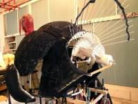Le mécanisme d'ouverture de la queue du dindon, conçu par Frank Demory