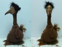 marionnette d'homme oiseau pour la compagnie