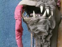 Modelage de la tête du dindon