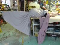 La marionnette de Circé dans l'atelier. Avec Sébastien Puech