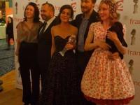 Nuit des molieres 2016, Carole Allemand ( marionnettes ), Pascal Laajili ( lumieres ), Valérie Lesort ( marionnettes ), Eric Ruf ( scénographie ), et Julie Depardieu ( et sa poule ) ...